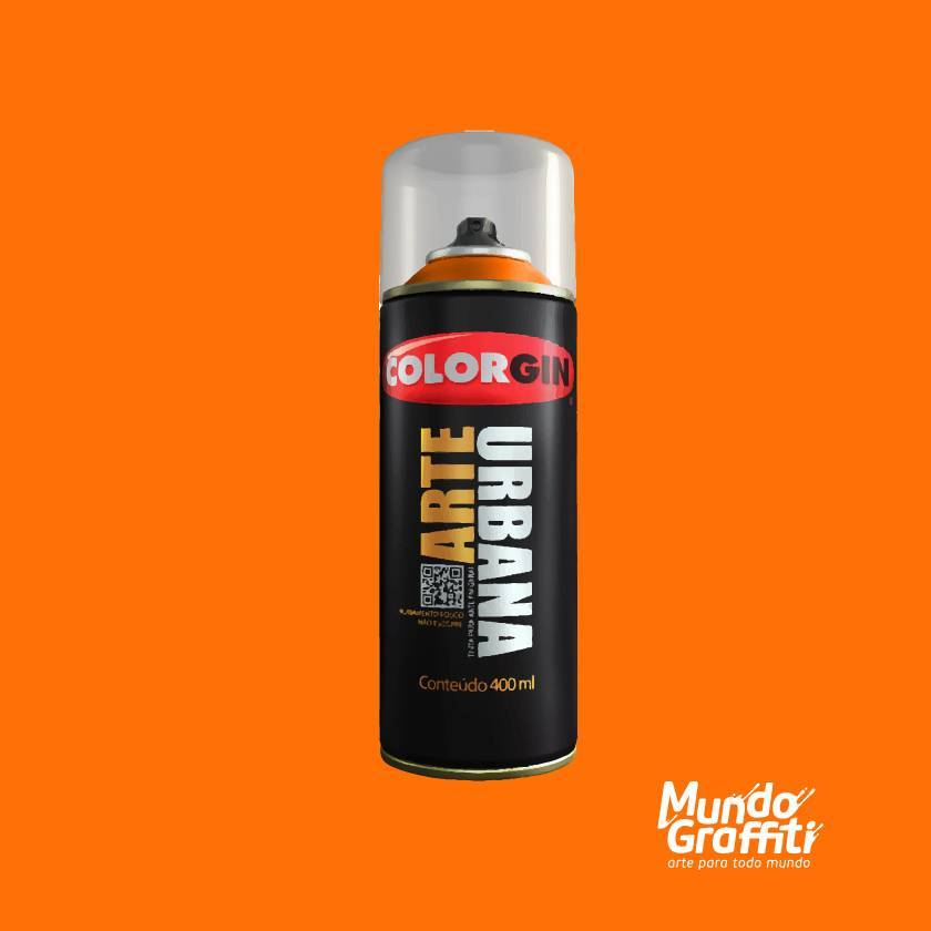 Tinta spray Arte Urbana cor 900 laranja 400ml - Mundo Graffiti