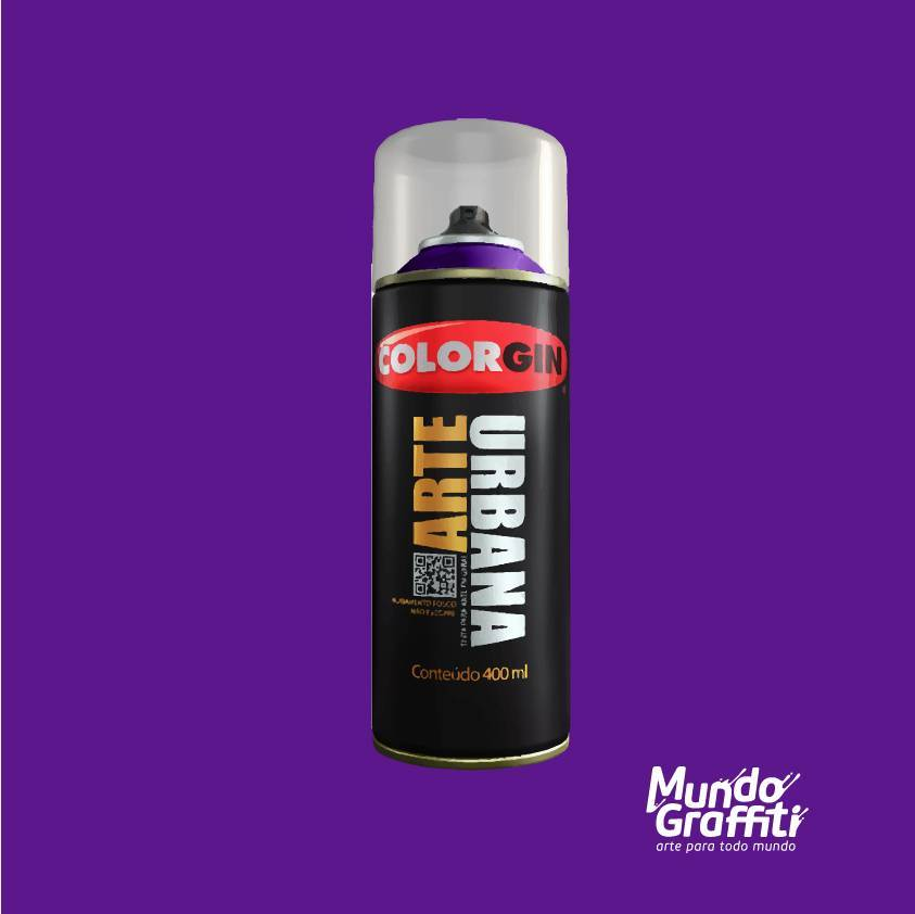 Tinta Spray Colorgin Arte Urbana 904 Beterraba 400ml - Mundo Graffiti