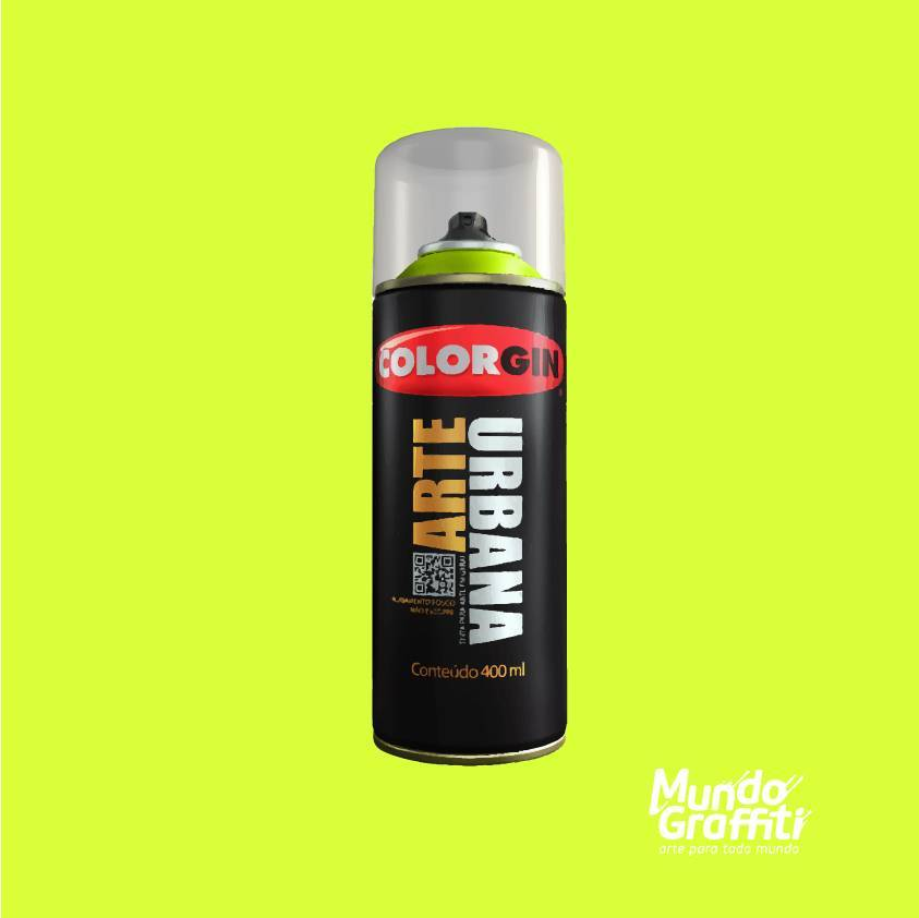 Tinta Spray Colorgin Arte Urbana 905 Verde Neon 400ml - Mundo Graffiti