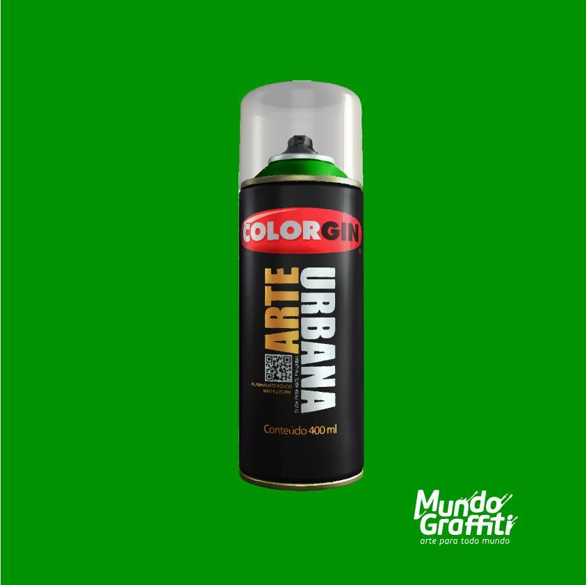 Tinta Spray Colorgin Arte Urbana 906 Verde Bandeira 400ml - Mundo Graffiti