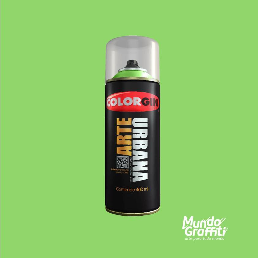 Tinta Spray Colorgin Arte Urbana 908 Verde Abacate 400ml - Mundo Graffiti
