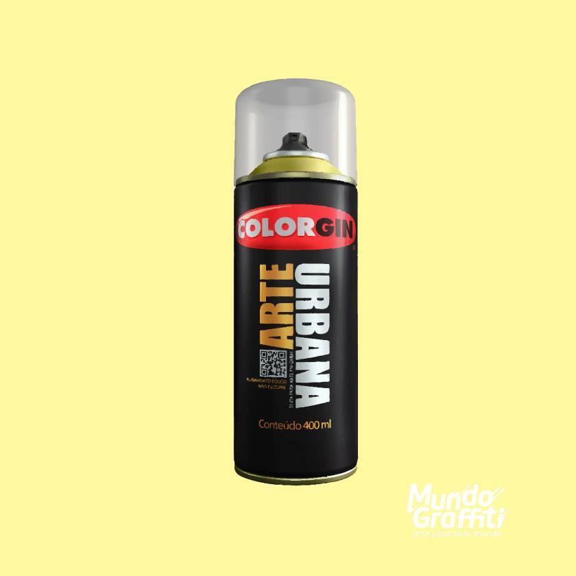 Tinta Spray Colorgin Arte Urbana 913 Amarelo Baunilha 400ml - Mundo Graffiti