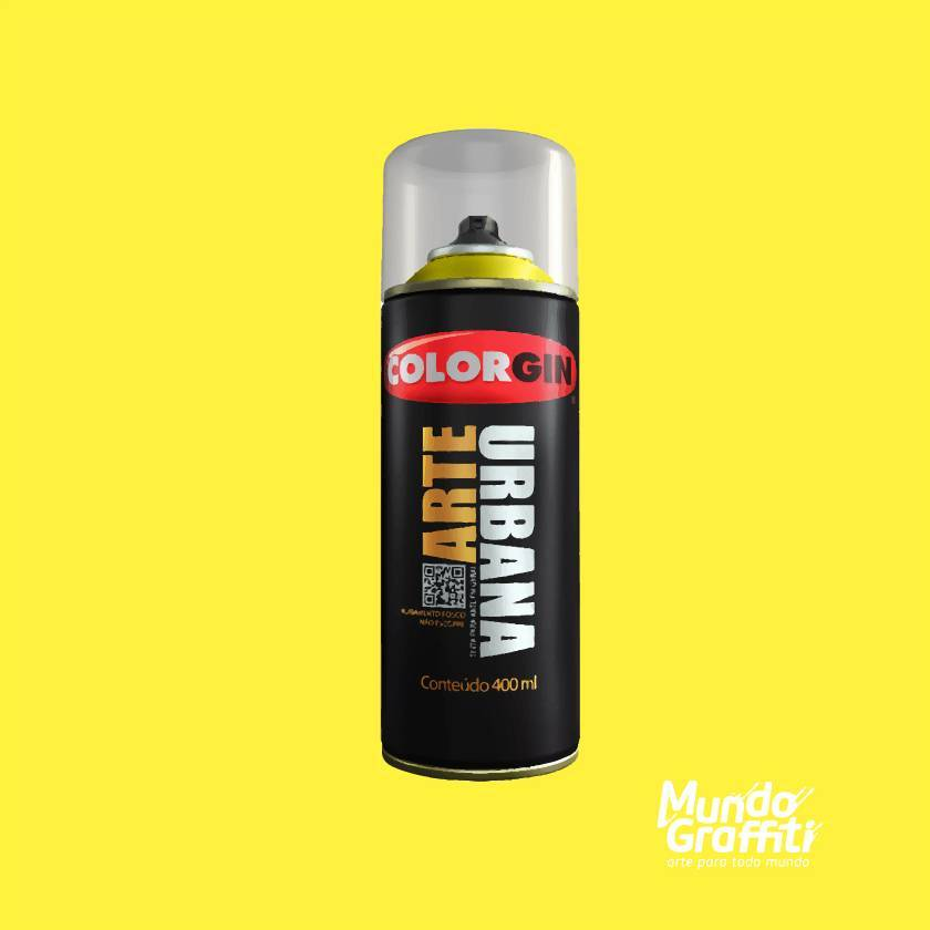 Tinta Spray Colorgin Arte Urbana 914 Amarelo Limão 400ml - Mundo Graffiti