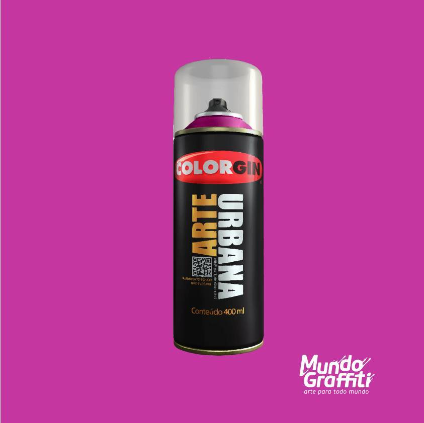 Tinta Spray Colorgin Arte Urbana 918 Magenta 400ml - Mundo Graffiti