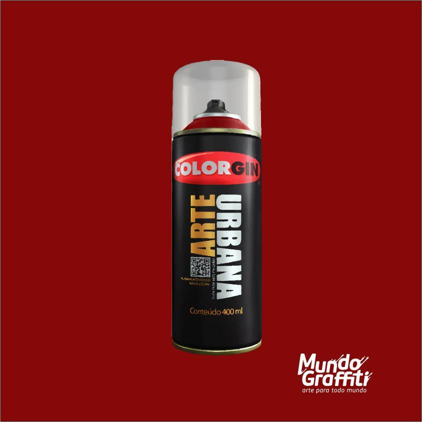 Tinta Spray Colorgin Arte Urbana 919 Vermelho Ferrari 400ml - Mundo Graffiti