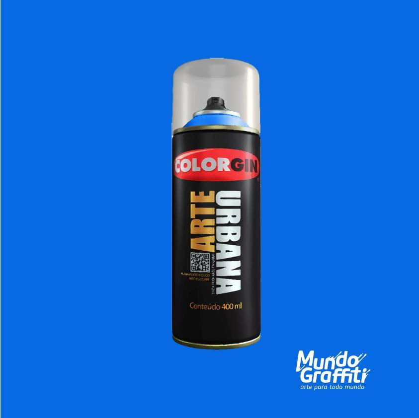 Tinta Spray Colorgin Arte Urbana 924 Azul Européia 400ml - Mundo Graffiti
