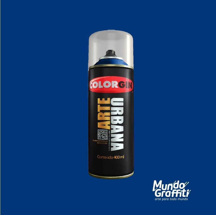 Tinta Spray Colorgin Arte Urbana 925 Azul Netuno 400ml - Mundo Graffiti