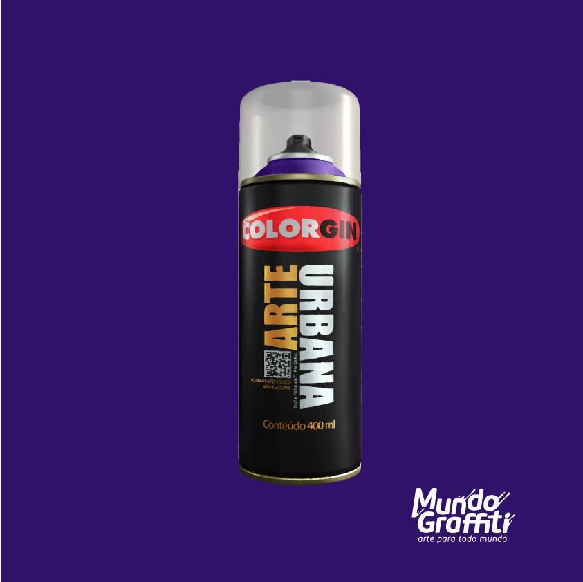 Tinta Spray Colorgin Arte Urbana 927 Azul Mackenzie 400ml - Mundo Graffiti