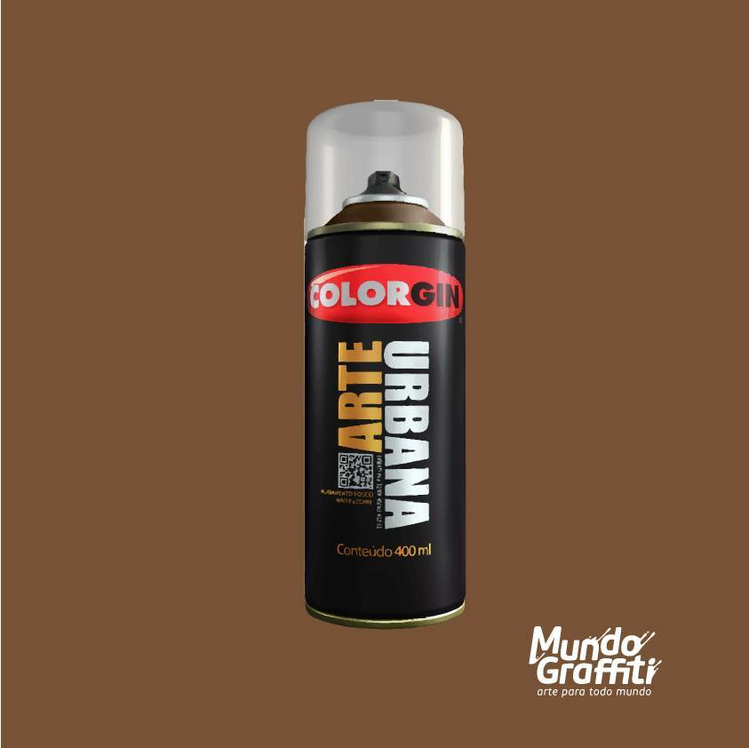 Tinta Spray Colorgin Arte Urbana 930 Marrom Tabaco 400ml - Mundo Graffiti