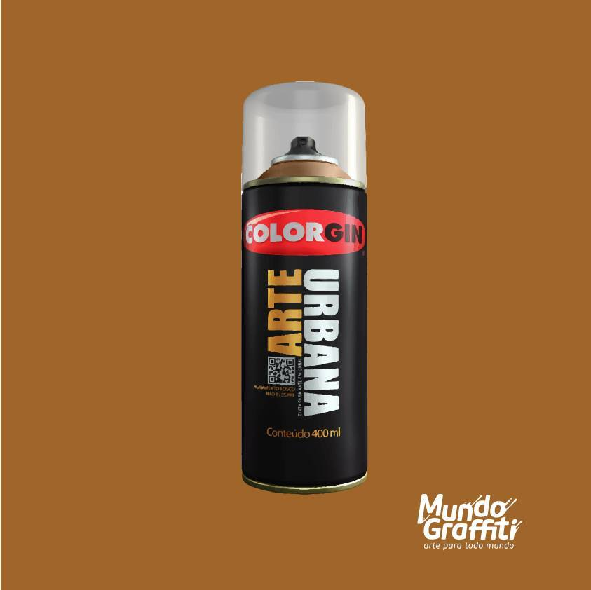 Tinta spray Arte Urbana cor 931 caramelo 400 ml - Mundo Graffiti
