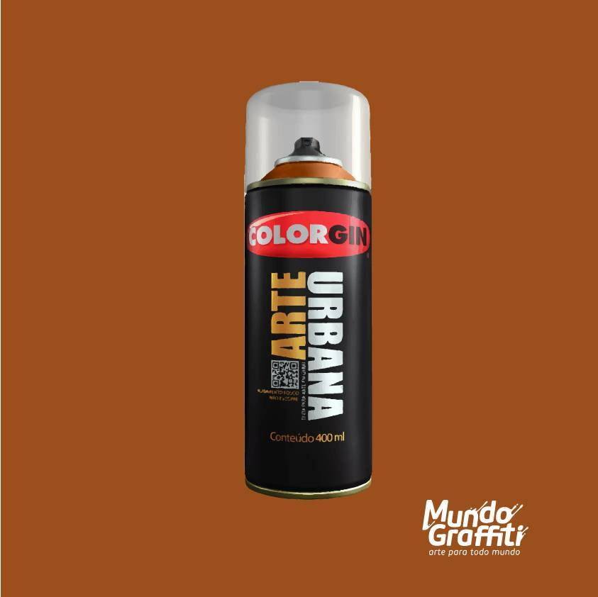 Tinta Spray Colorgin Arte Urbana 932 Cacau 400ml - Mundo Graffiti