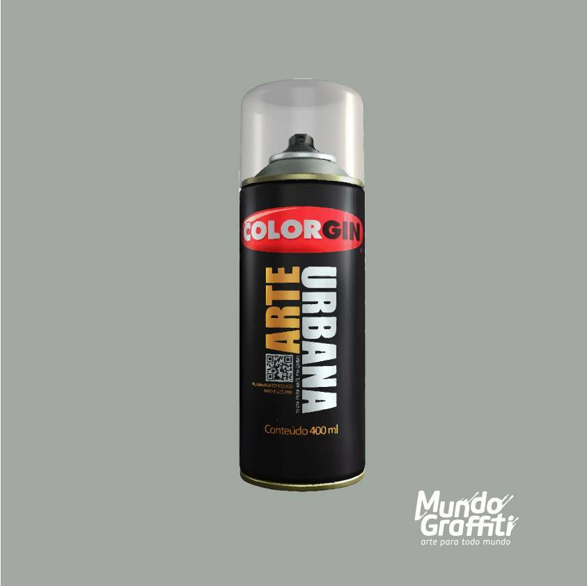 Tinta spray Arte Urbana cor 933 cinza carrara 400 ml - Mundo Graffiti