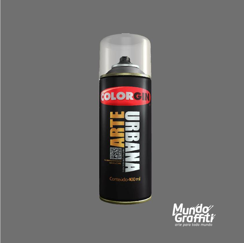 Tinta Spray Colorgin Arte Urbana 935 Cinza Londres 400ml - Mundo Graffiti