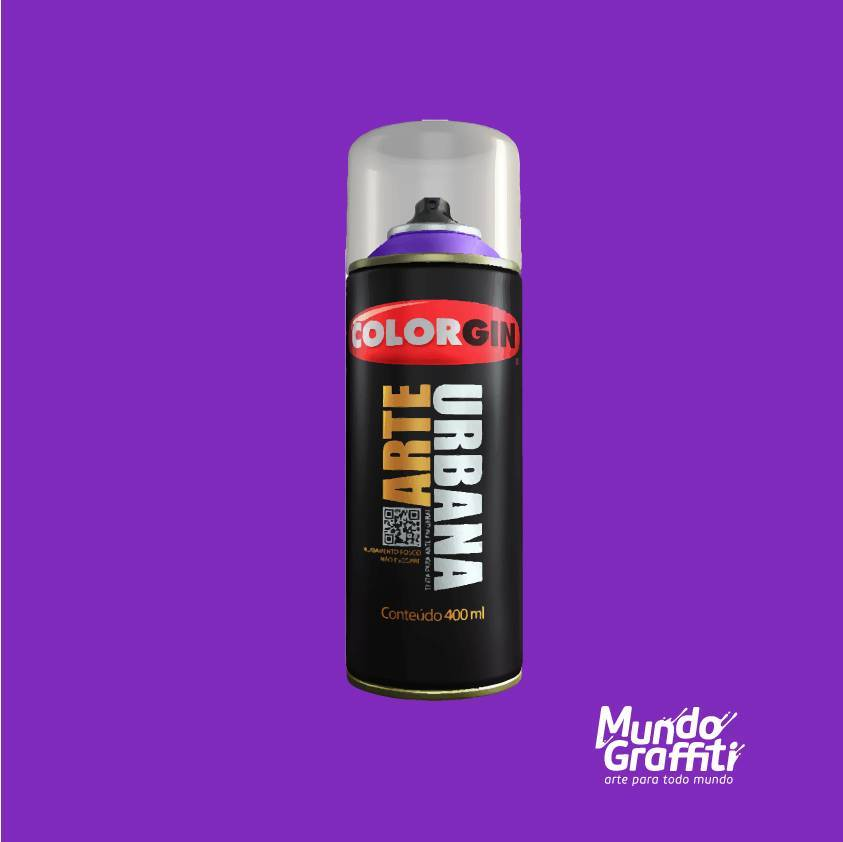 Tinta spray Arte Urbana cor 936 violeta 400 ml - Mundo Graffiti