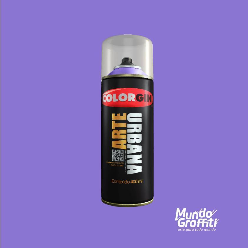 Tinta Spray Colorgin Arte Urbana 940 Lilás 400ml - Mundo Graffiti