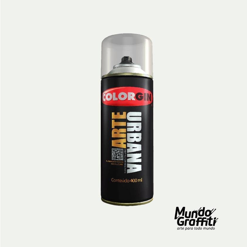Tinta Spray Colorgin Arte Urbana 943 Branco Gelo 400ml - Mundo Graffiti