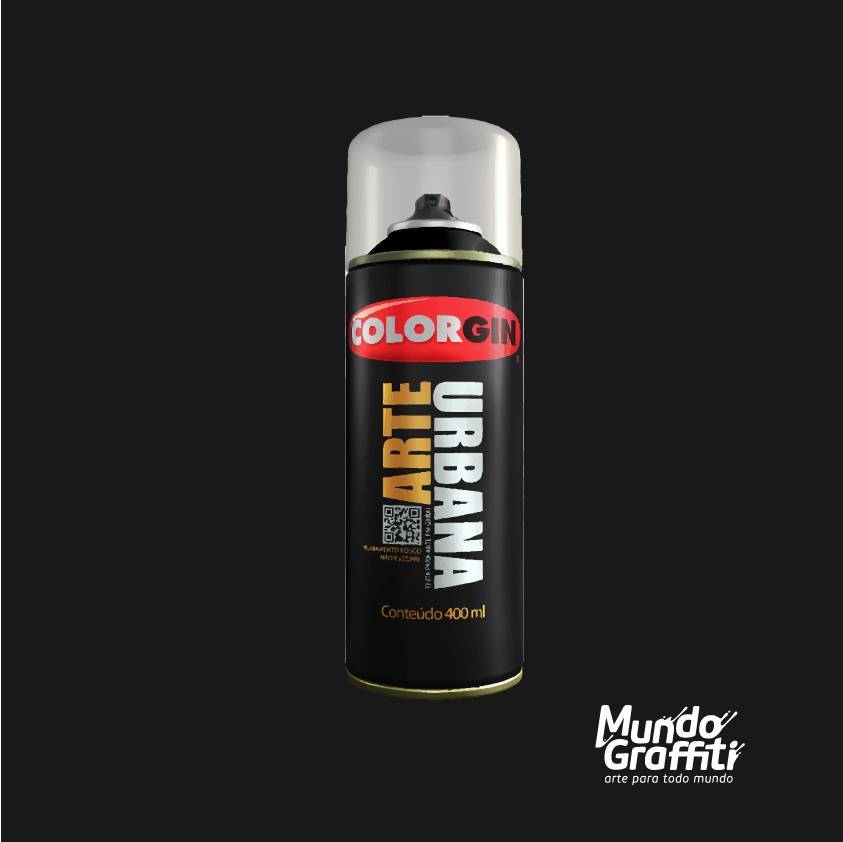 Tinta Spray Colorgin Arte Urbana 945 Preto 400ml - Mundo Graffiti