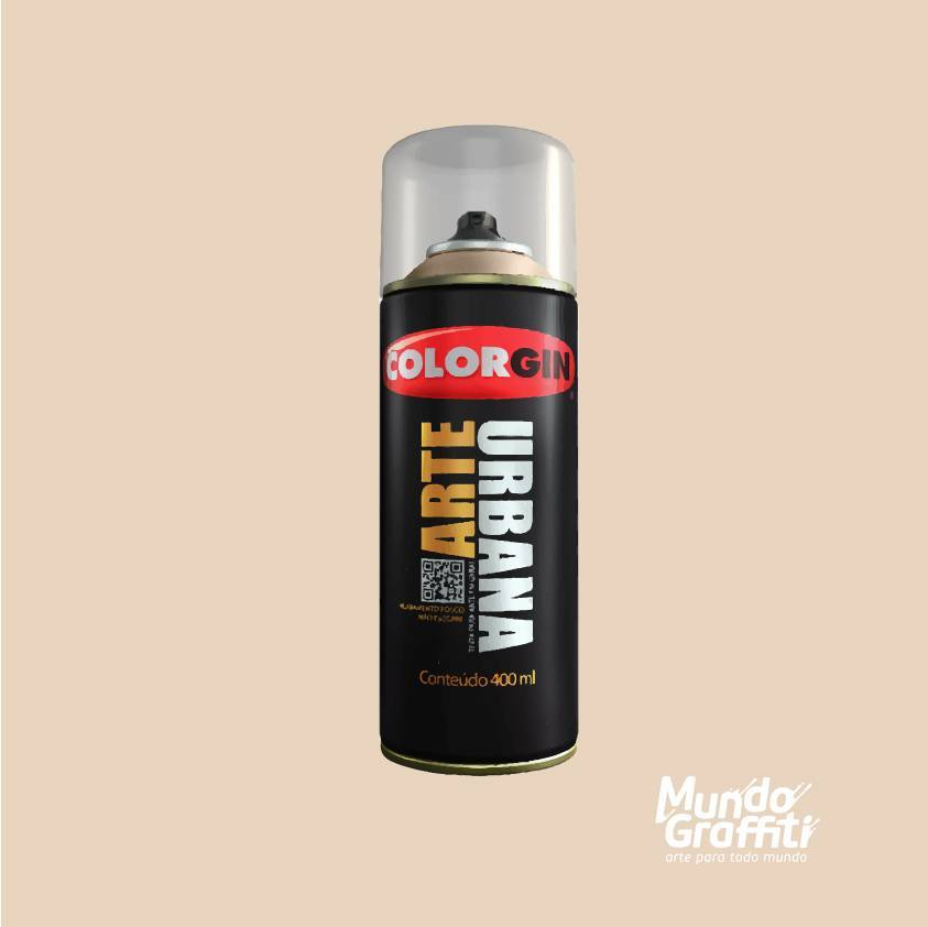 Tinta spray Arte Urbana cor 949 areia 400 ml - Mundo Graffiti