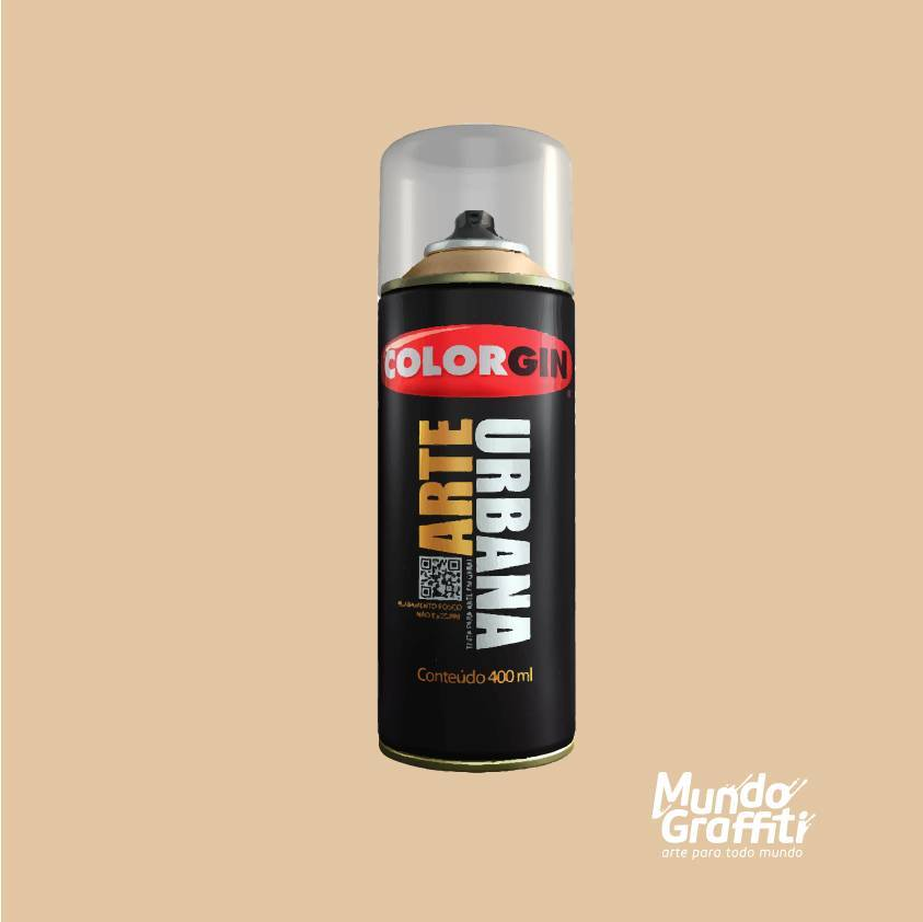 Tinta Spray Colorgin Arte Urbana 950 Avelã 400ml - Mundo Graffiti