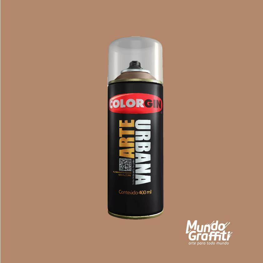 Tinta Spray Colorgin Arte Urbana 952 Canela 400ml - Mundo Graffiti