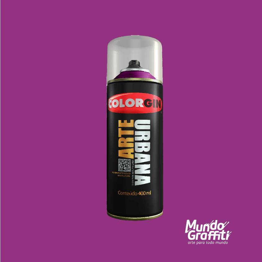 Tinta Spray Colorgin Arte Urbana 956 Framboesa 400ml - Mundo Graffiti