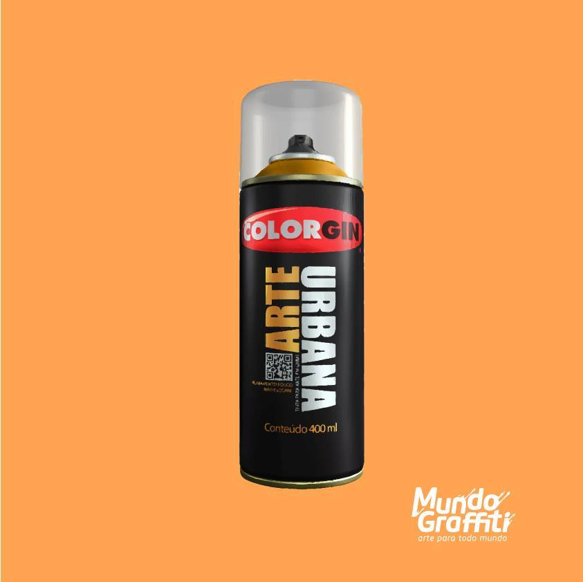 Tinta spray Arte Urbana cor 967 tangerina 400 ml - Mundo Graffiti