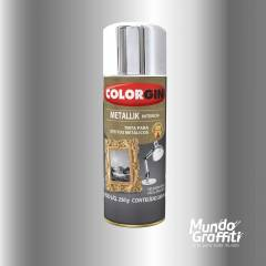 Tinta Spray Colorgin Metallik 051 Cromado 350ml