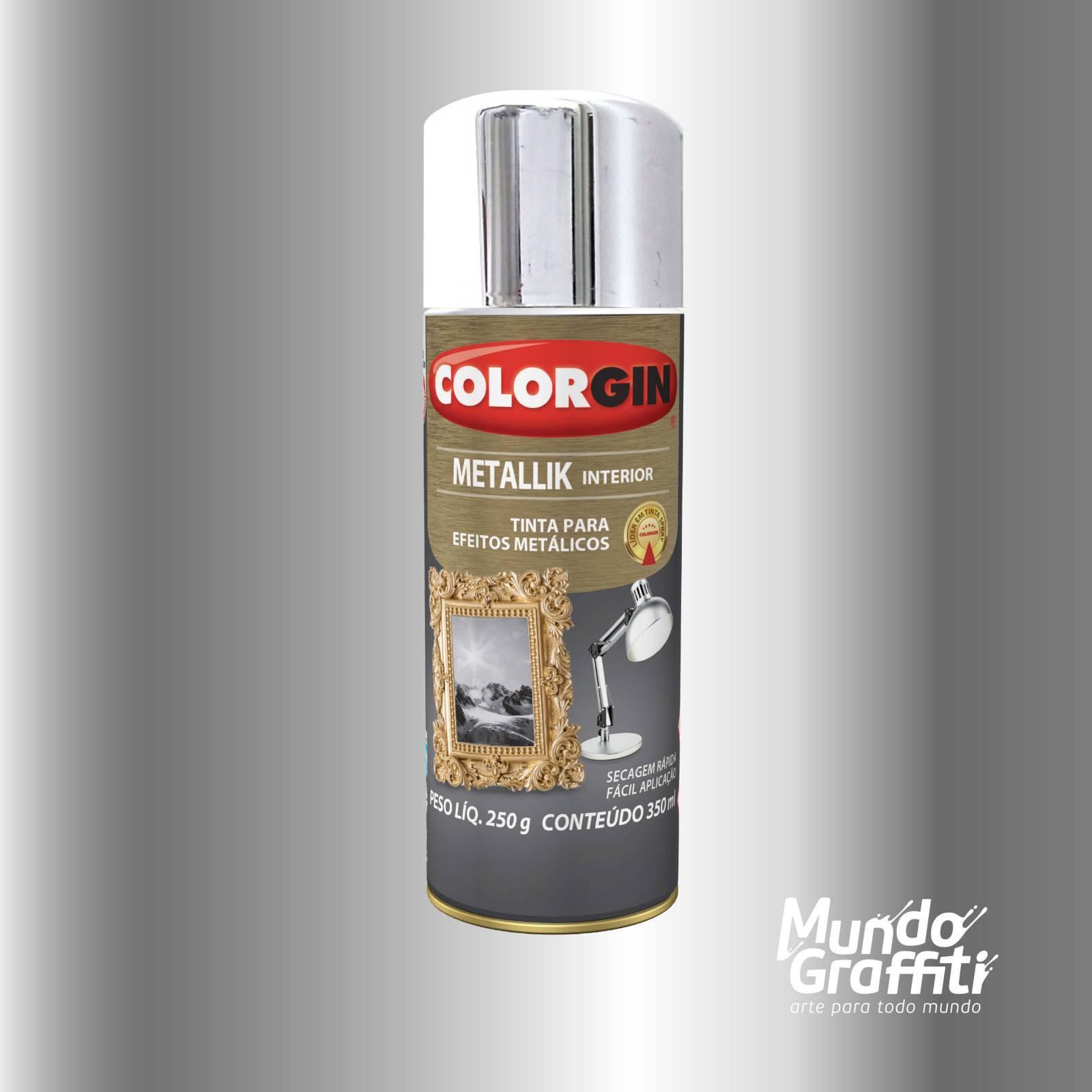 Tinta Spray Colorgin Metallik 051 Cromado 350ml - Mundo Graffiti