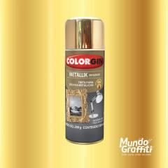 Tinta Spray Colorgin Metallik 057 Dourado 350ml