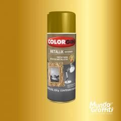 Tinta Spray Colorgin Metallik 052 Ouro 350ml