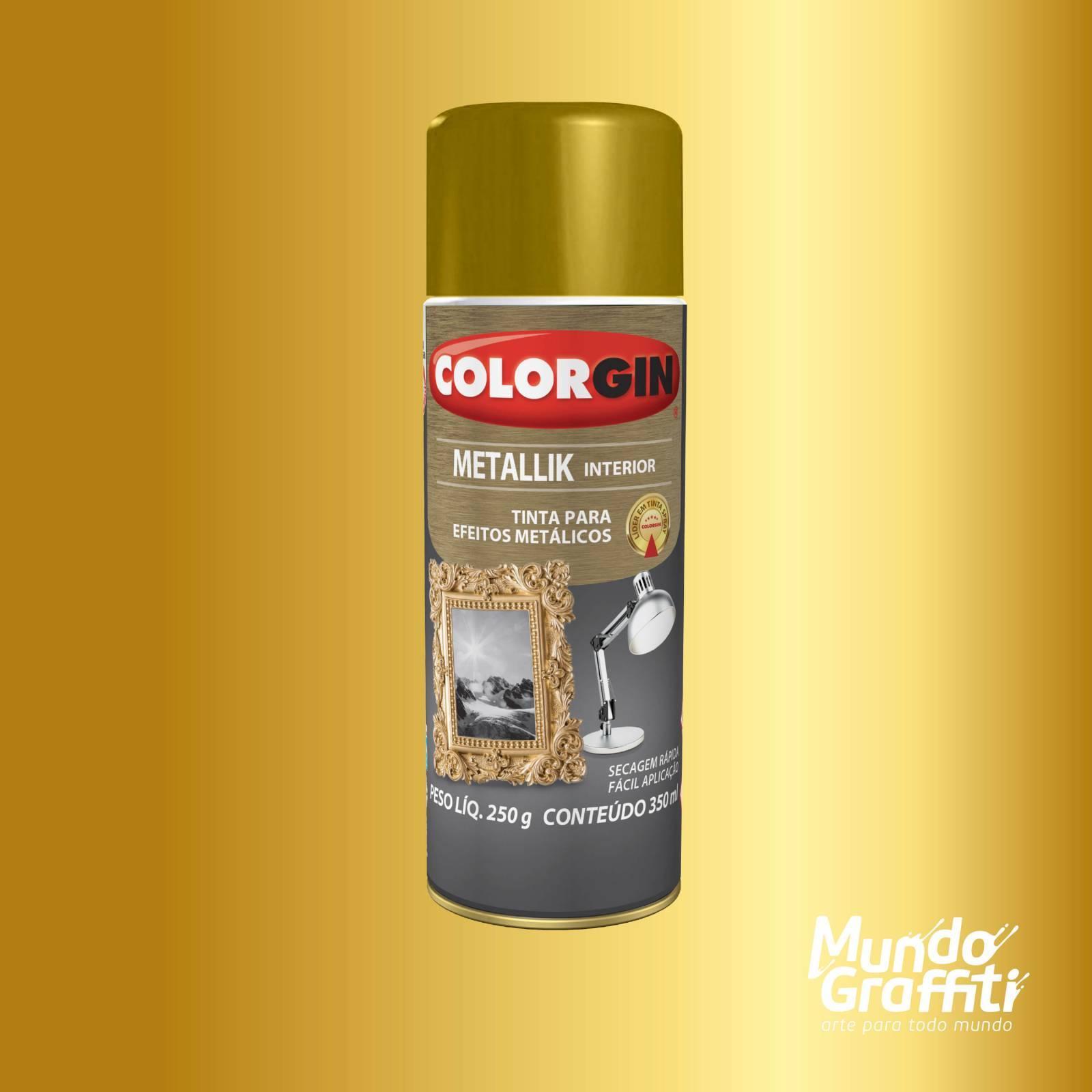 Tinta Spray Colorgin Metallik 052 Ouro 350ml - Mundo Graffiti