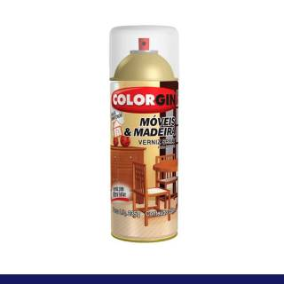 Spray Verniz Colorgin Natural p/ Madeira 765 Brilhante 350ml