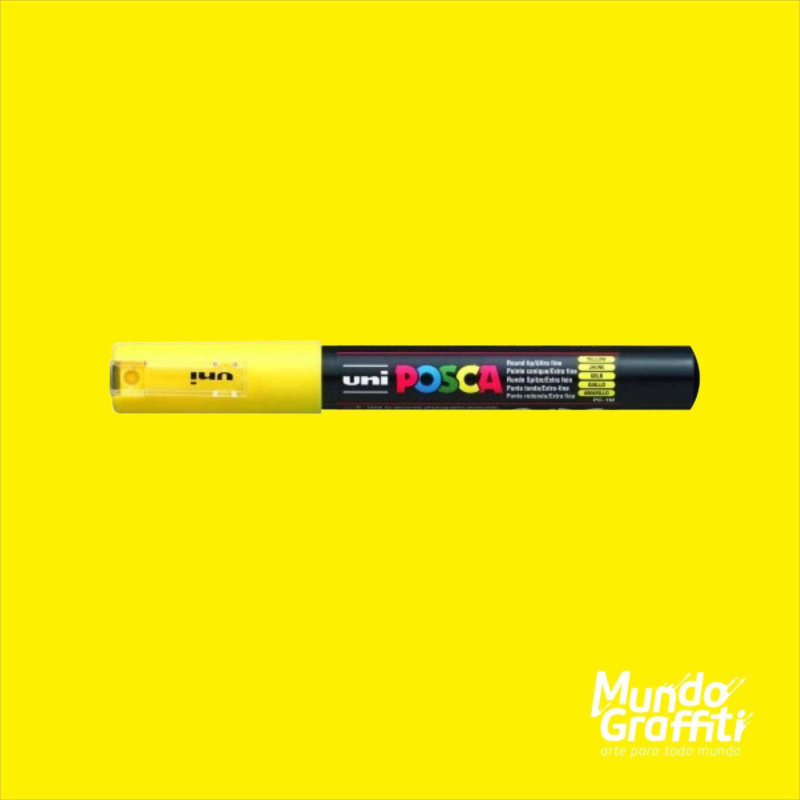 Caneta Posca 1M Amarelo - Mundo Graffiti