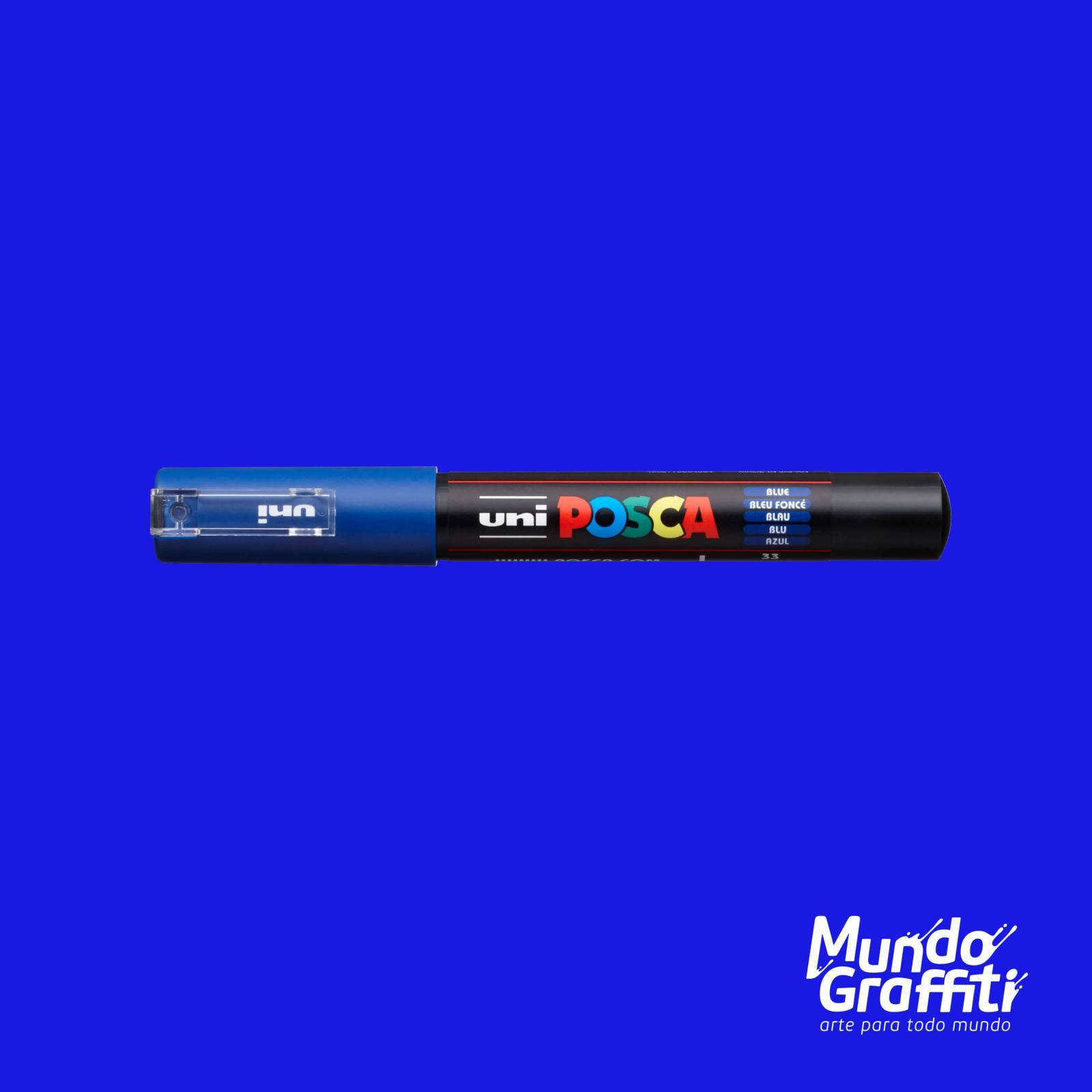 Caneta Posca 1M Azul - Mundo Graffiti