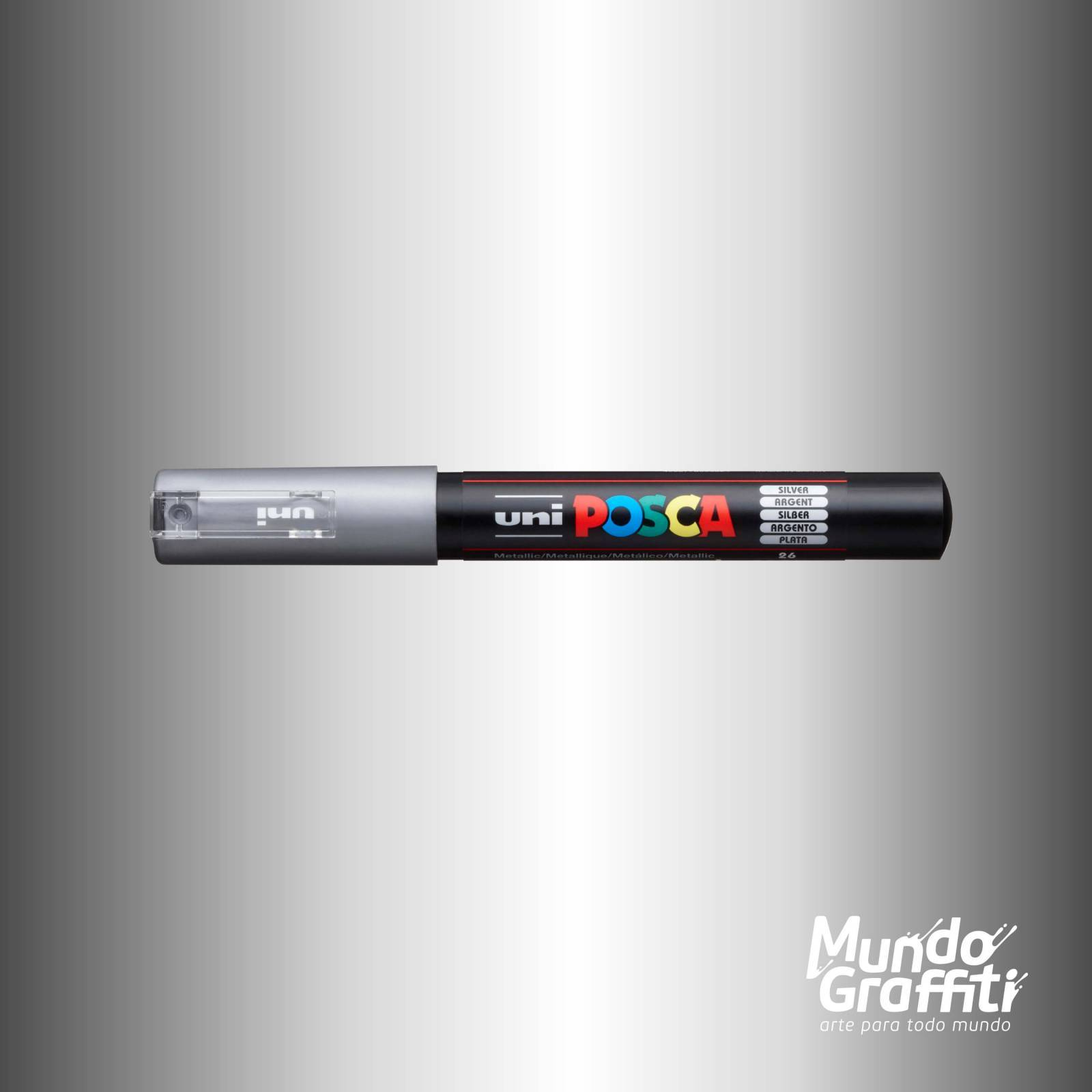 Caneta Posca 1M Prata - Mundo Graffiti