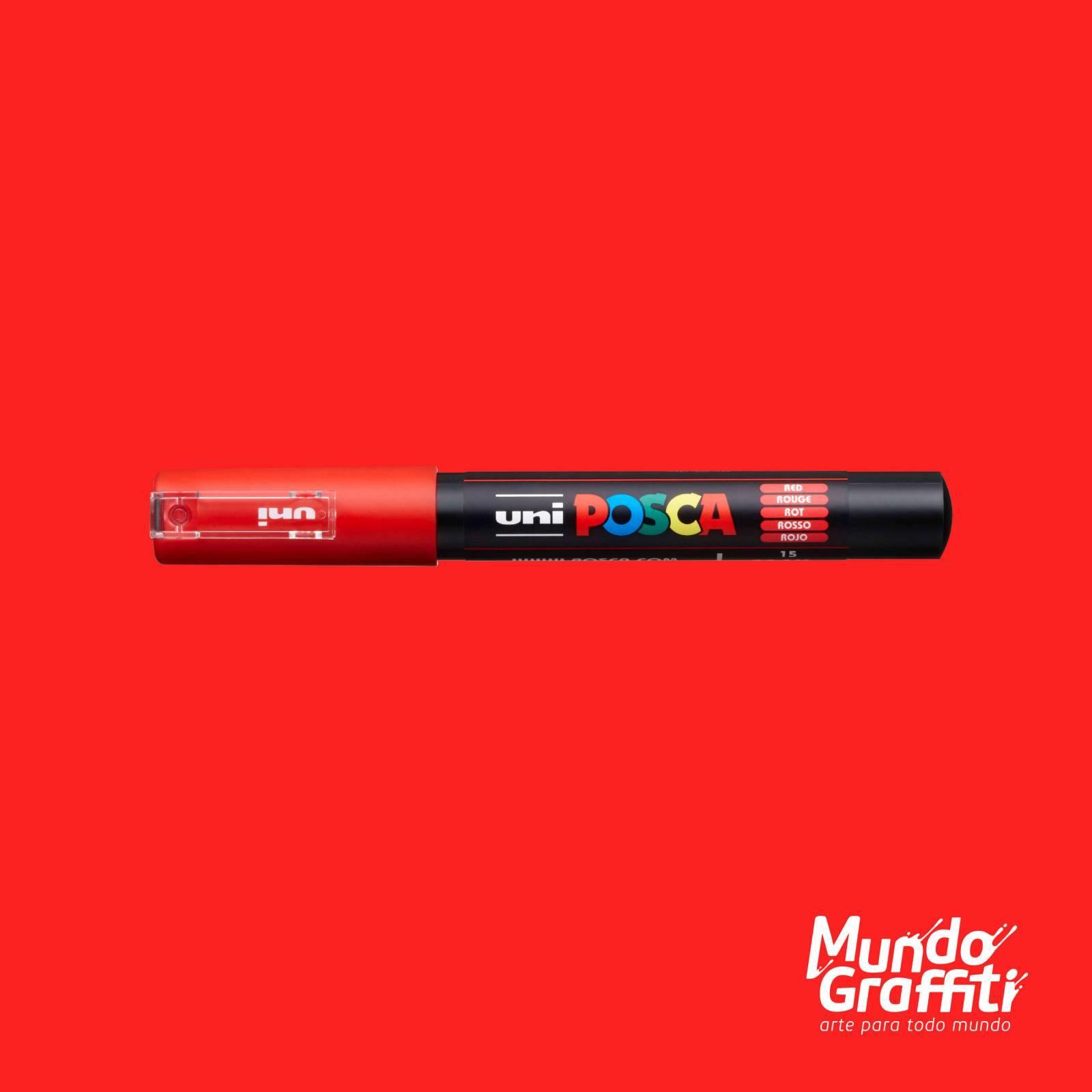 Caneta Posca 1M Vermelho - Mundo Graffiti