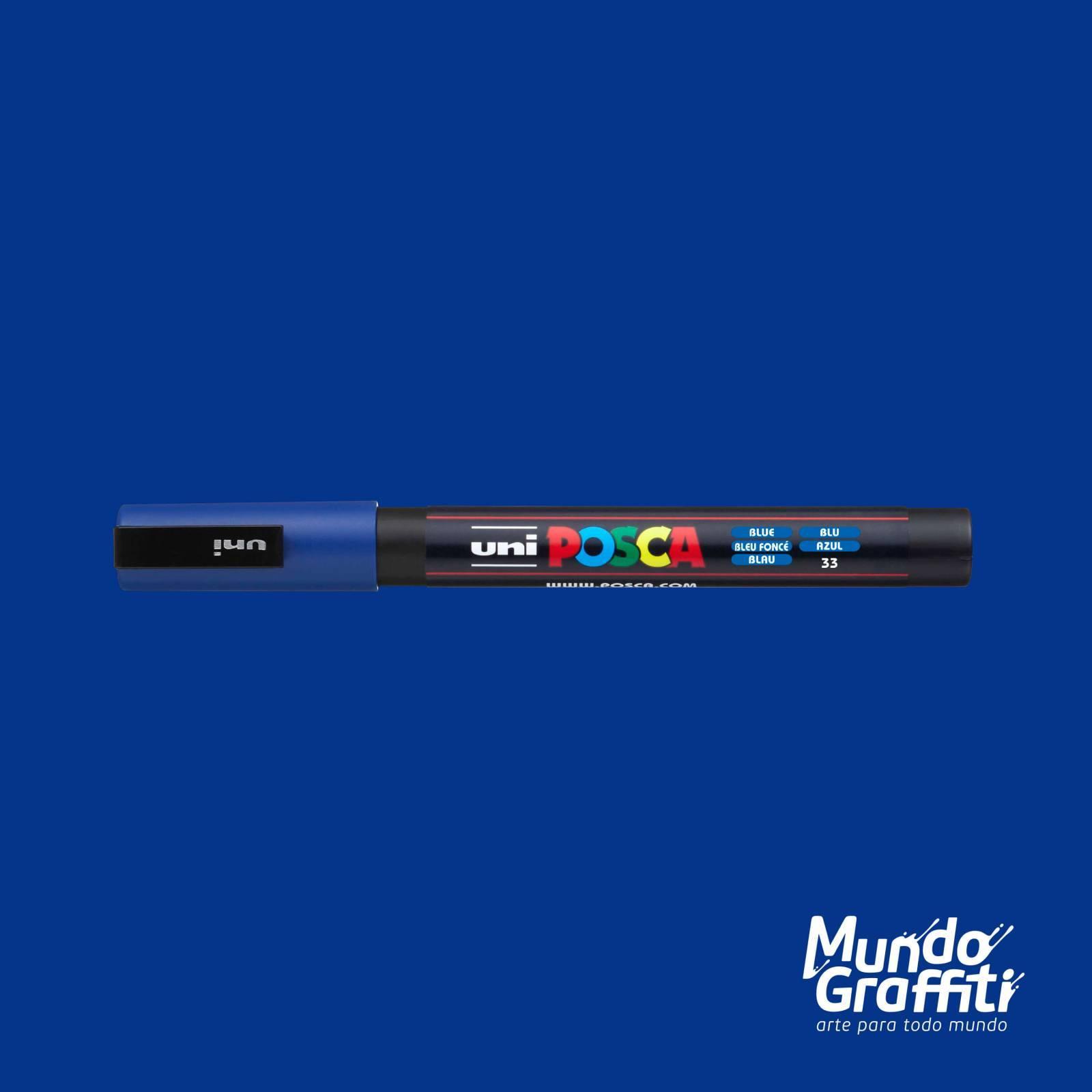 Caneta Posca 3M Azul - Mundo Graffiti