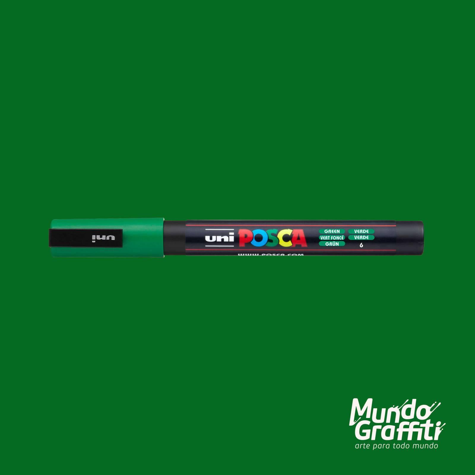 Caneta Posca 3M Verde - Mundo Graffiti
