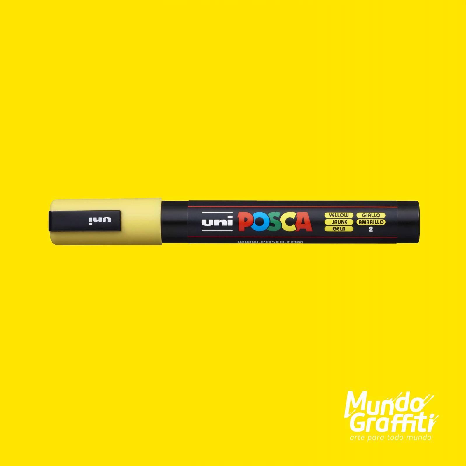 Caneta Posca 5M Amarelo - Mundo Graffiti