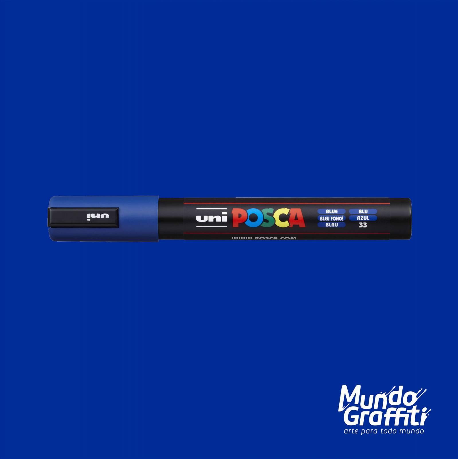 Caneta Posca 5M Azul - Mundo Graffiti