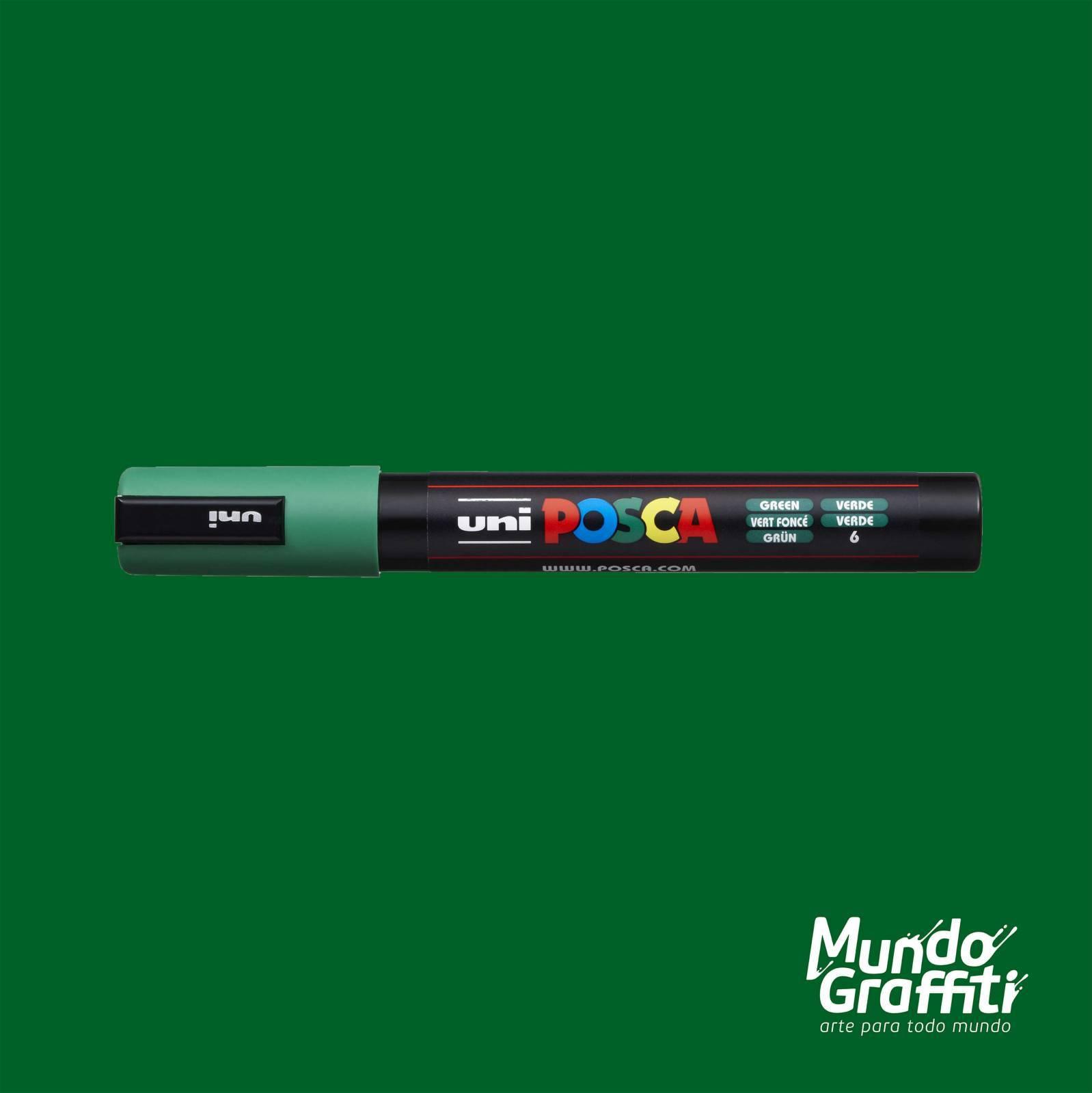 Caneta Posca 5M Verde - Mundo Graffiti