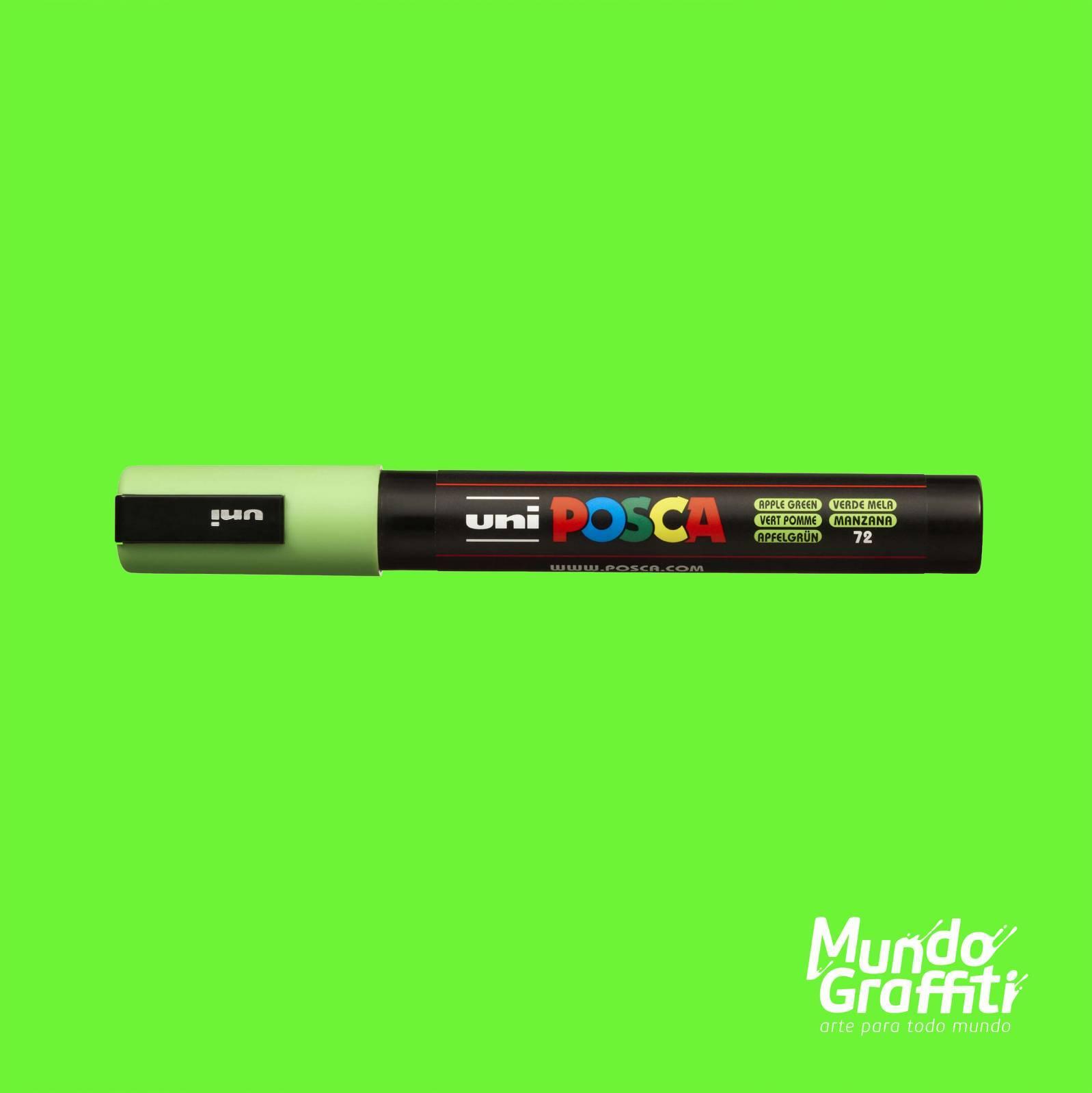 Caneta Posca 5M Maçã Verde - Mundo Graffiti