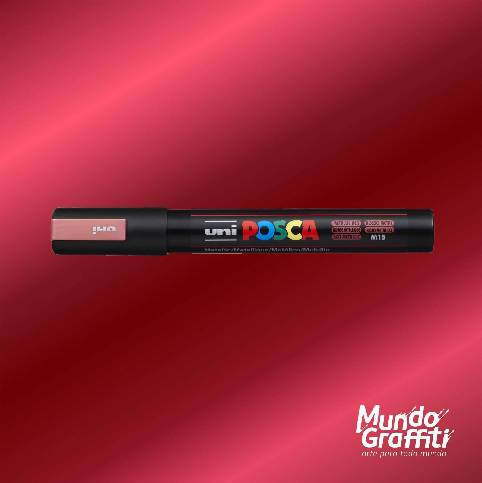 Caneta Posca 5M Vermelho Metálico - Mundo Graffiti