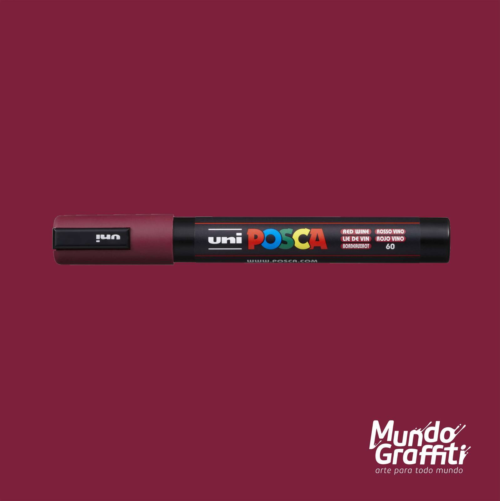 Caneta Posca 5M Vinho - Mundo Graffiti