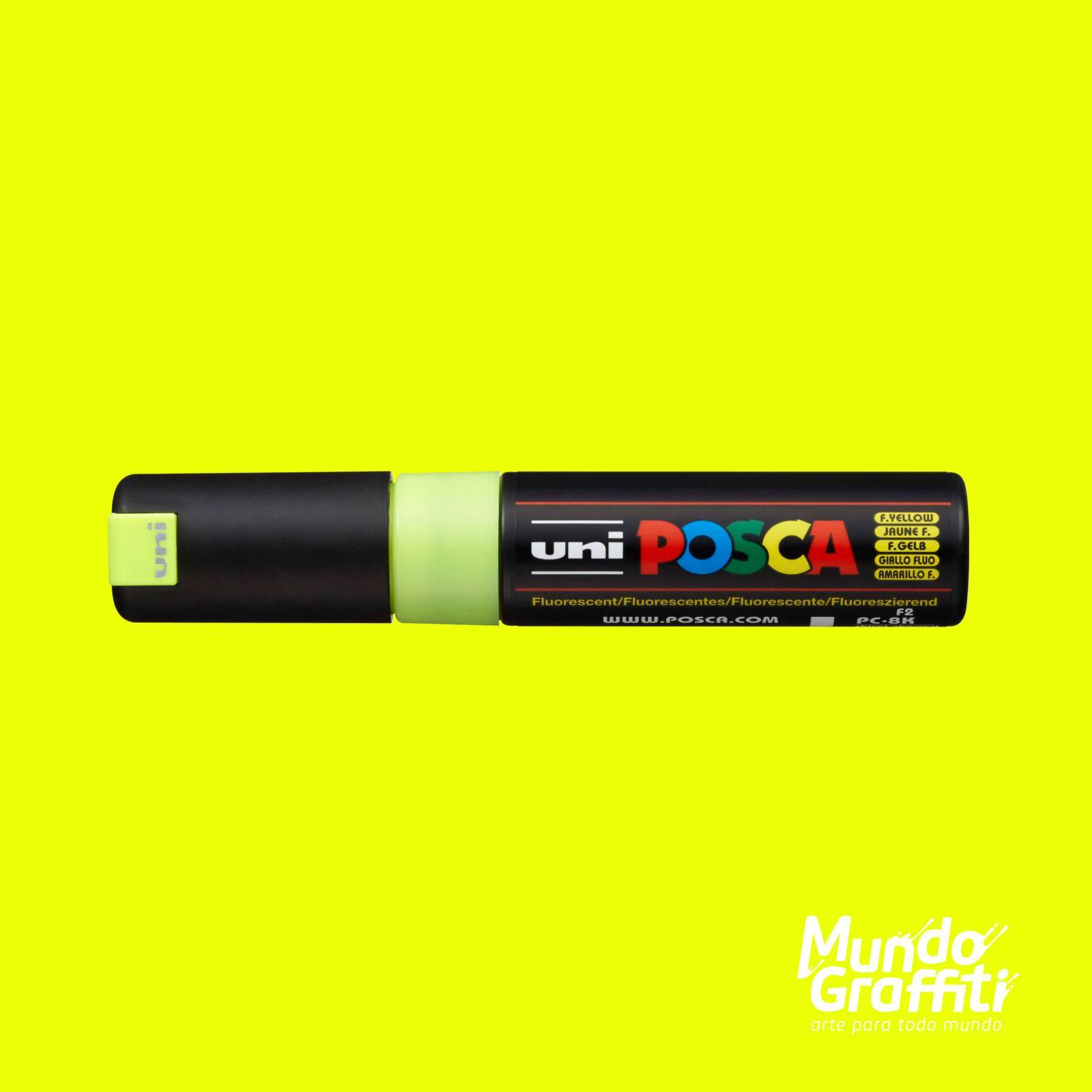 Caneta Posca 8K Amarelo Fluorescente - Mundo Graffiti
