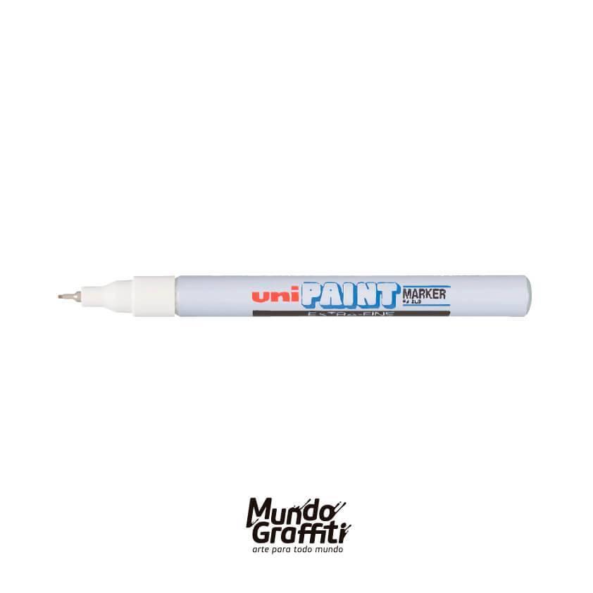 Marcador Permanente Uni Paint Marker PX203 Branco - Mundo Graffiti
