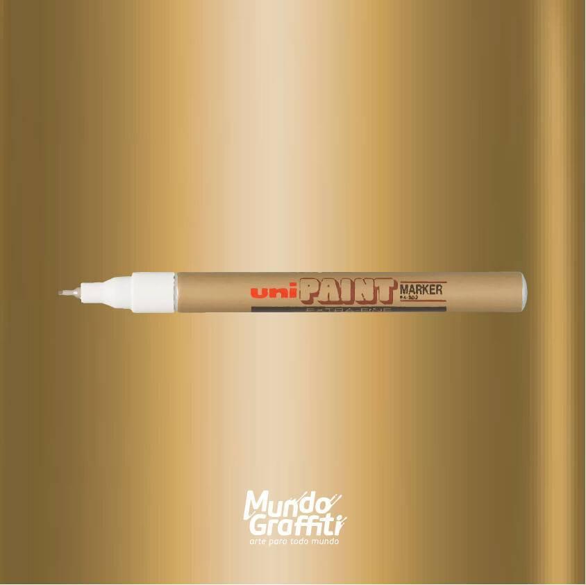 Marcador Permanente Uni Paint Marker PX203 Ouro - Mundo Graffiti