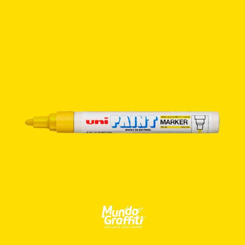 Marcador Permanente Uni Paint Marker PX20 Amarelo - Mundo Graffiti
