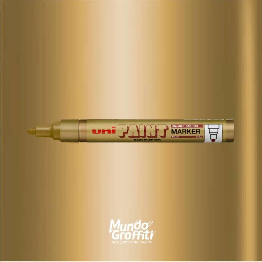 Marcador permanente Uni Paint Marker PX20 ouro - Mundo Graffiti