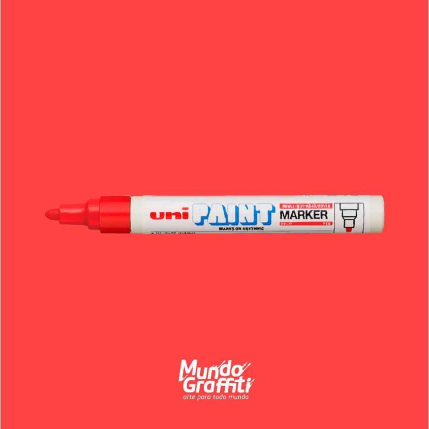 Marcador Permanente Uni Paint Marker PX20 Vermelho - Mundo Graffiti